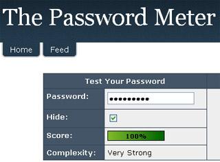 Passwordmeter: Analizador de contraseñas