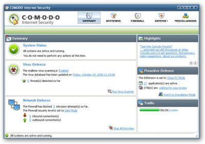 Antivirus y firewall gratuitos: Comodo Internet Security